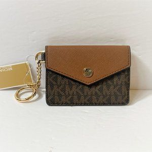 Michael Kors Kala S Flap ID Wallet MK Brown